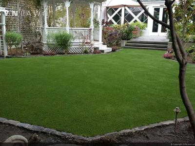 SYNLawn-artificial-grass-residential-backyard-gazeebo-trellis-garden