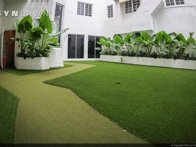 SYNLawn-artificial-grass-residential-courtyard-atrium-design